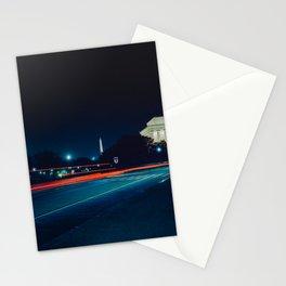 Iconic Washington D.C. Memorials At Night Stationery Cards