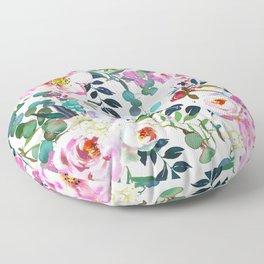 Watercolor flowers Floor Pillow