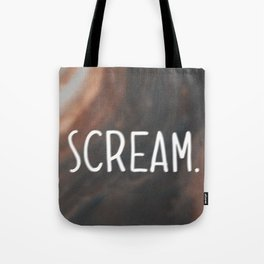 Anxiety Series: Scream Tote Bag