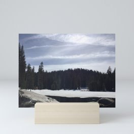 Frozen Lake and Forest in Sequoia and Kings Canyon National Park Mini Art Print