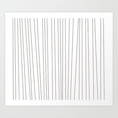 striped blanket Art Print