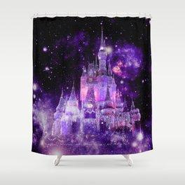 Enchanted Castle Purple Pink Shower Curtain