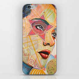 Abstract Art Female Women Portrait Painting ...Honestly Speaking iPhone Skin