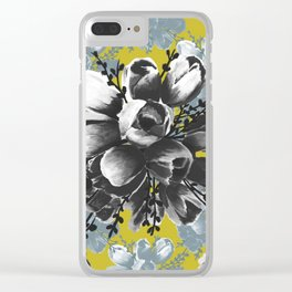 Erin's Tulips Clear iPhone Case