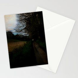 Wet Road Dawn In Spring Stationery Cards