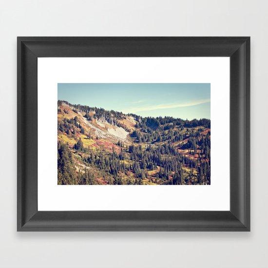 Fall Mountain Framed Art Print