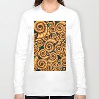 shells Long Sleeve T-shirts featuring Shells by Marven RELOADED
