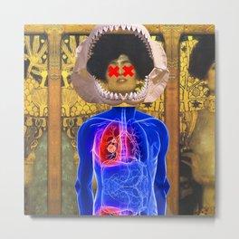 Klimt Pop Art Collage Metal Print