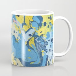 Abstract Blue & Yellow Paint Coffee Mug