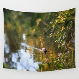 Duck pond Wall Tapestry