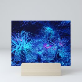 Florescent Glowing Tropical Anemone Mini Art Print