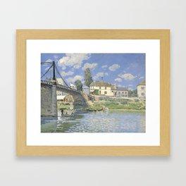Alfred Sisley - Bridge at Hampton Court, 1874 Framed Art Print