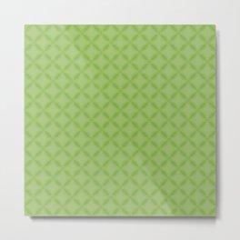 Greenery Green Geometric Interlocking Circle Pattern Metal Print