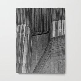 Streaked Brutalist Concrete Metal Print