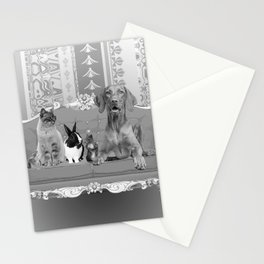 Animals Family Baroque Couch  Stationery Cards