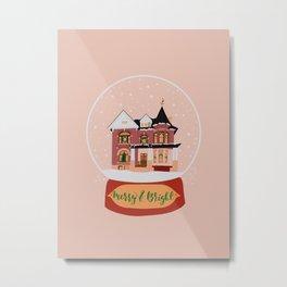 Christmas in Saginaw- Lee Mansion Metal Print
