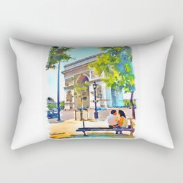 The Arc de Triomphe Paris Rectangular Pillow