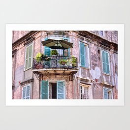 French Quarter Skyscraper Balcony, New Orleans Art Print