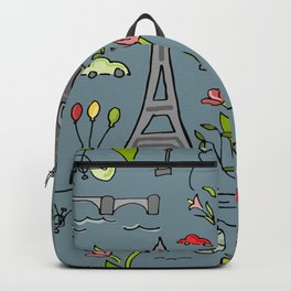 Cycling Through Paris Backpack