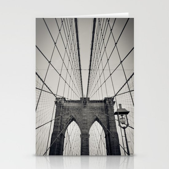 Brooklyn Bridge B/W | New York City Stationery Cards