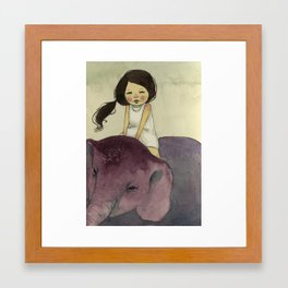 Elephant Girl Framed Art Print