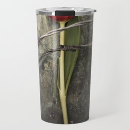 Tulip and barbed wire Travel Mug