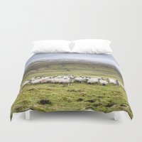 sheep Duvet Covers featuring Sheep by Gouzelka