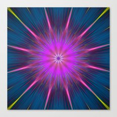 Artistic bright shining abstract star Canvas Print