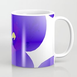Large Retro Blue Flowers #1 White Background #decor #society6 #buyart Coffee Mug