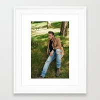 liam payne Framed Art Prints featuring Liam Payne by behindthenoise