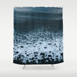 Iceland waves and shapes - Landscape Photography Shower Curtain