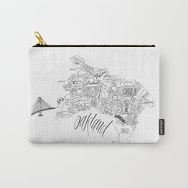 Neighborhoods of Oakland | Map Carry-All Pouch