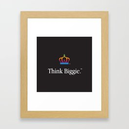 THINK BIGGIE Framed Art Print