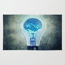 lightbulb brain shining Rug