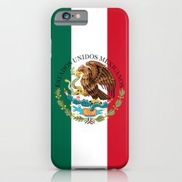 Mexican flag augmented scale with Coat of Arms iPhone Case