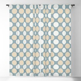 Beige & White Uniform Large Polka Dots Pattern on Pastel Blue Matches Clares Good Jean 2020 COTY Blackout Curtain