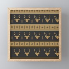 Christmas Reindeer Framed Mini Art Print