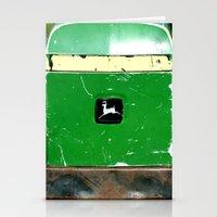 john green Stationery Cards featuring John Deere Green..... by LeeRay Flowers
