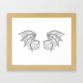 Polygonal Dragon Wings Framed Art Print
