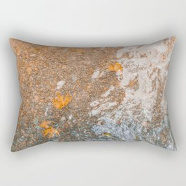 Water and foil Rectangular Pillow