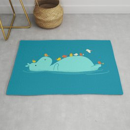 Floating Hippo Rug