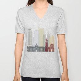 Manila skyline poster Unisex V-Neck