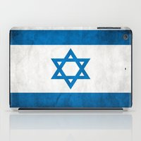 israel iPad Cases featuring Israel Flag  by Jason Michael