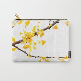 yellow gingko leaves Carry-All Pouch