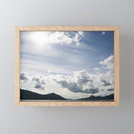Fleeting Blue Sky Framed Mini Art Print