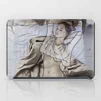 bed iPad Cases featuring A day in bed by Laure.B