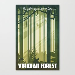 Viridian Forest Travel Poster Canvas Print
