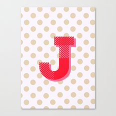 J is for Joy Canvas Print