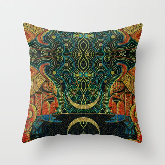 They Who Drink Chaos Throw Pillow