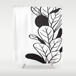 Plant and Pot Shower Curtain